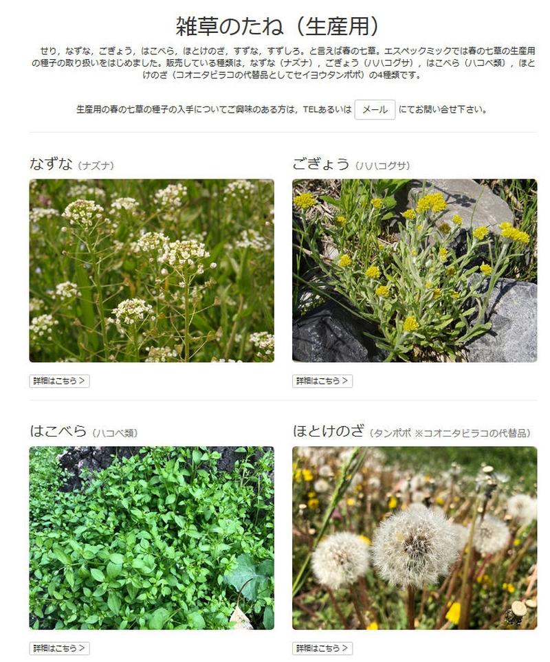 春の 七草