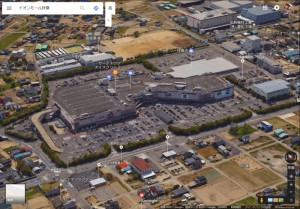 イオンモール扶桑_衛星3D画像_Google_170209